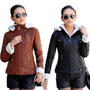 2015-Autumn-Winter-Leather-jacket-women-Hooded-Thicken-Warm-PU-Leather-Coat-Women-Faux-Leather-Jacket