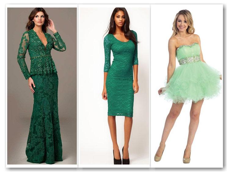 Новый год в зеленом платье