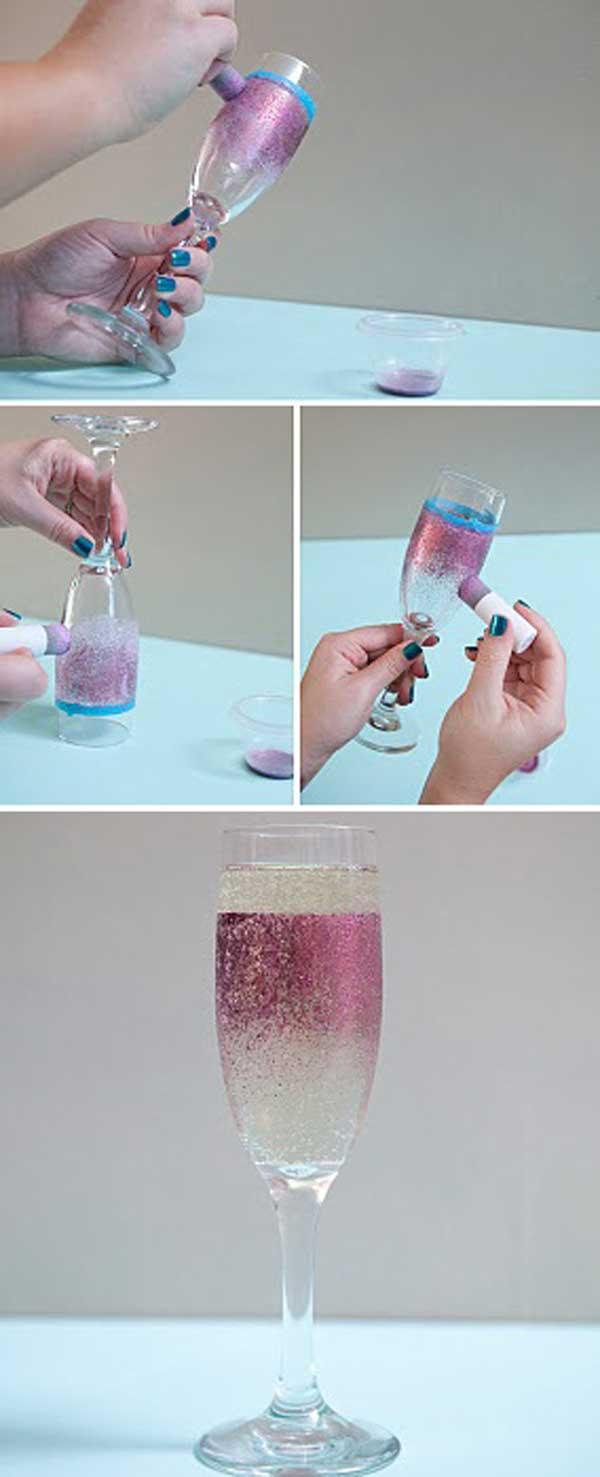 Как украсить бутылку к новому году своими
