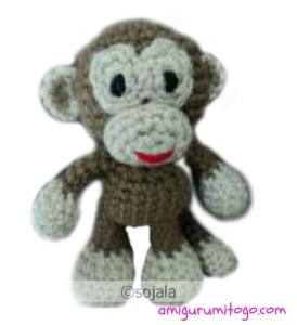 Вариант 1. вязанной крючком обезьянки схема