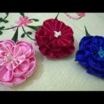 Канзаши цветы из атласных лент: мастер-класс для начинающих