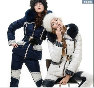 2016-French-Brand-CLJ-fashion-women-down-jacket-Set-Slim-Belt-down-coat-set-women-winter