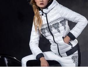 2016-marca-francesa-CLJ-mujeres-bordado-abajo-Pants-Set-delgado-con-capucha-Down-Jacket-Pant-Set
