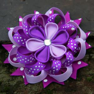 8-colors-10pcs-lot-grosgrain-ribbon-Blooming-kanzashi-flower-hair-clip-Baby-Daisy-Flower-hair-clip