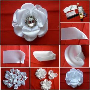 DIY-Silk-Ribbon-White-Kanzashi-Rose-1
