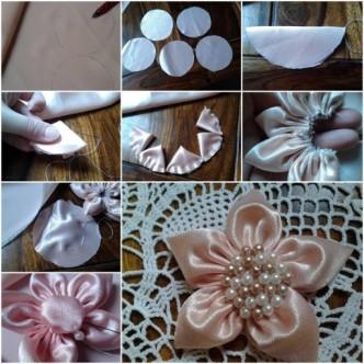Канзаши своими руками пошаговая инструкция цветы на
