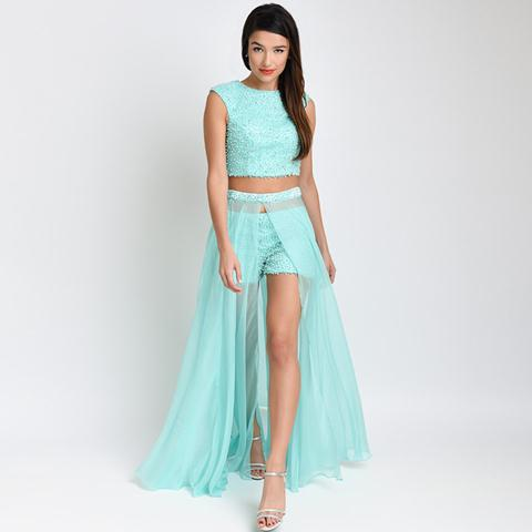 Mint-Three-pieces-2016-Prom-Dresses-with-Detachable-train-Fashion-Hottest-Chiffon-Beading-Girls-Graduation-Party