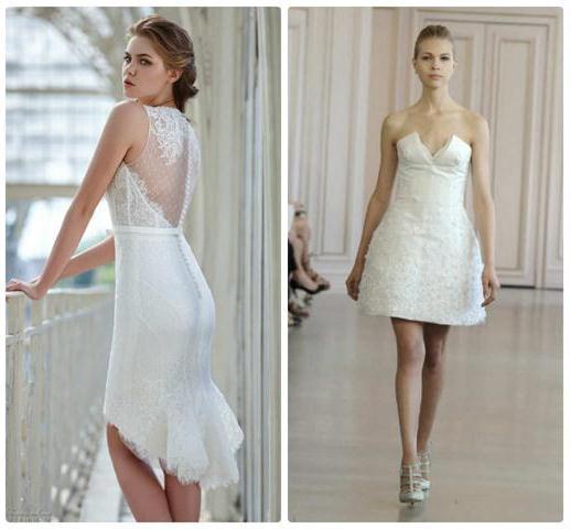 коллекция коротких свадебных платьев 2016