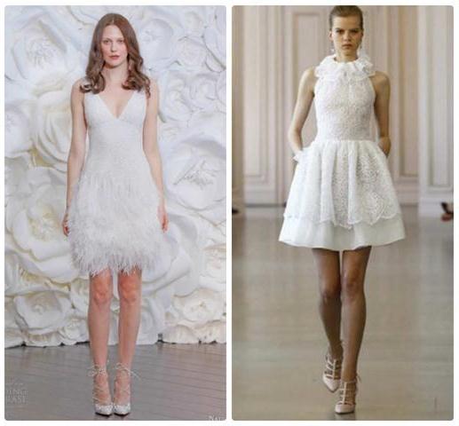 коллекция свадебных платьев короткиех