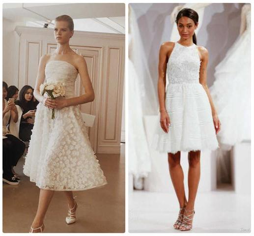 показ свадебных платьев 2016 миди