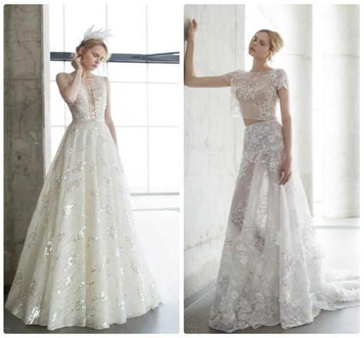 роскошные полупрозрачные наряды для невест 2016