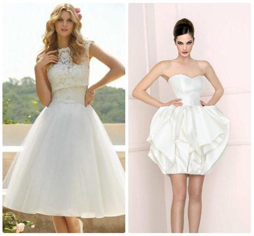 свадебные наряды короткие 2