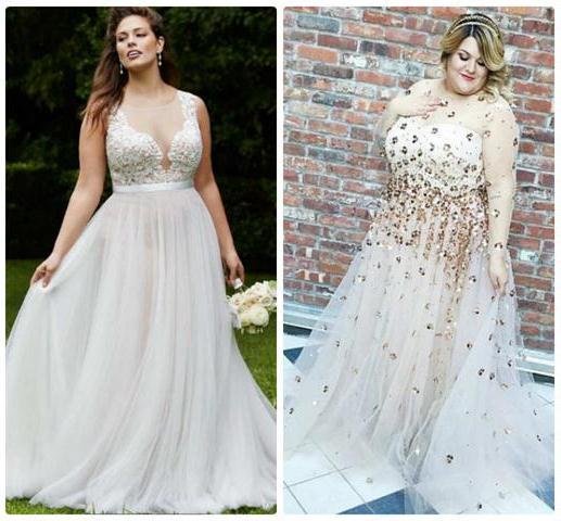 свадебные платья для полных невест 2016