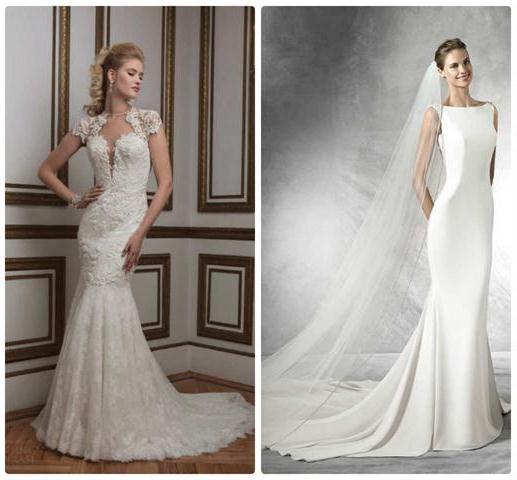 свадебные платья русалка со шлейфом
