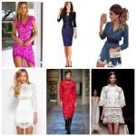 Модные вечерние и повседневные кружевные платья 2016 фотообзор новинок