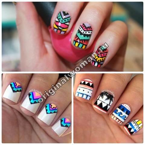 Дизайн ногтей гель-лаком фото-новинки 2016 года на короткие ногти