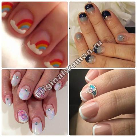 Гель лак дизайн коротких ногтей фото