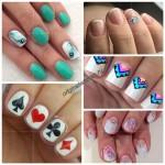 Дизайн ногтей гель-лаком на короткие ногти фото-новинки 2016 года
