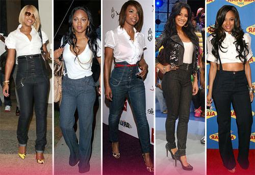 Модные джинсы с завышенной талией