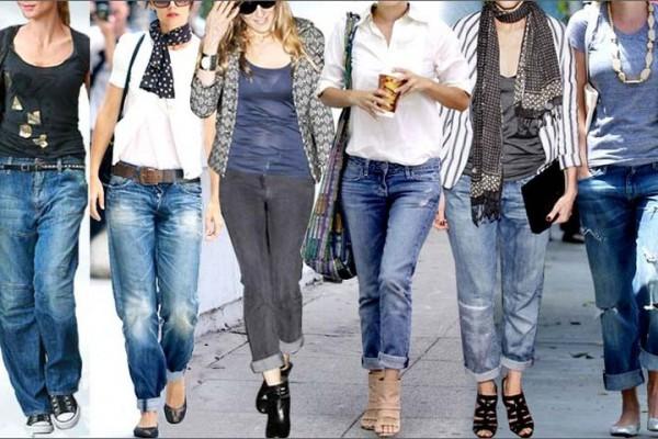Модные джинсы с отворотом