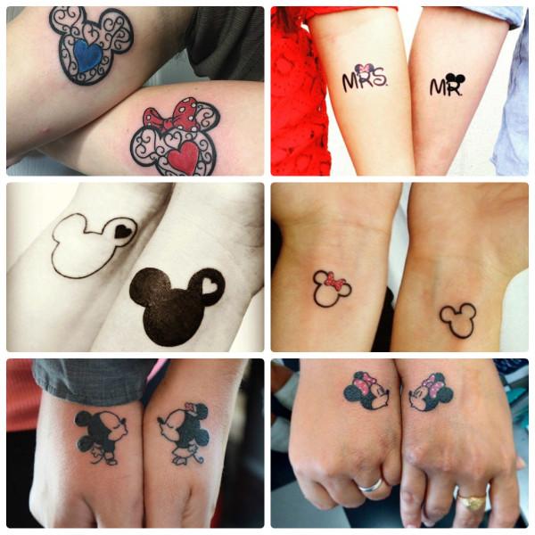 Парные татуировки для двоих влюбленных: идеи и фото