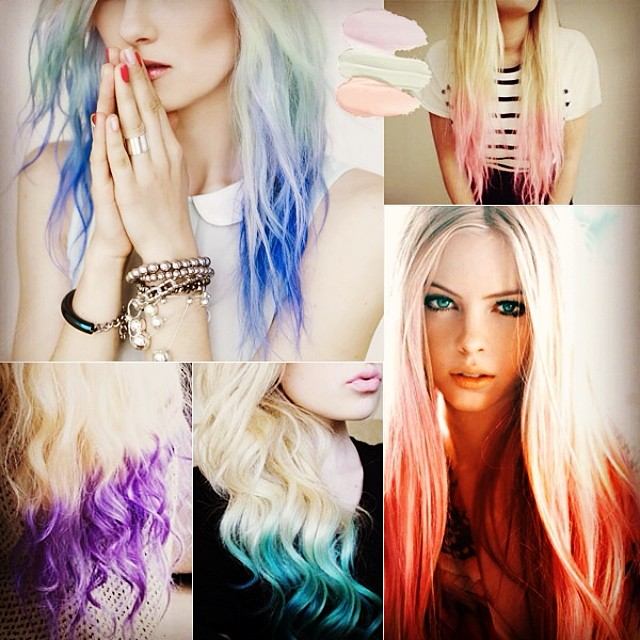 pastel-dip-dye-hair-extensions-for-summer-hair-looks