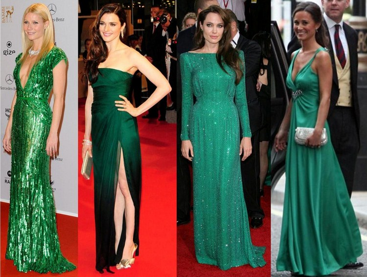 celebs-in-green-gown