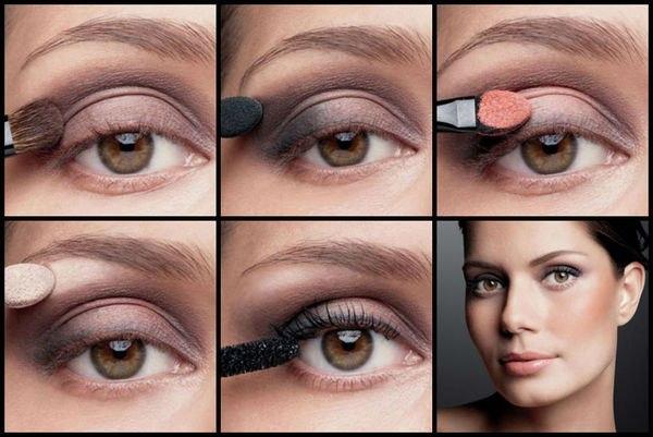 веком для инструкция с пошаговая макияжа нависшем глаз