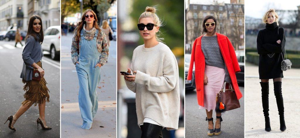 Лучшие фото-луки сочетания свитеров оверсайз (oversize) в 2018 году