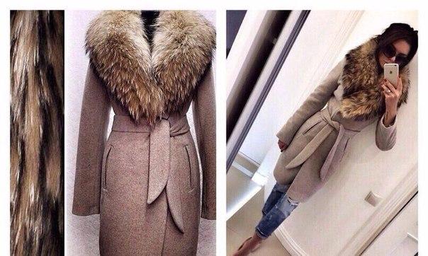 Пальто с мехом классическое