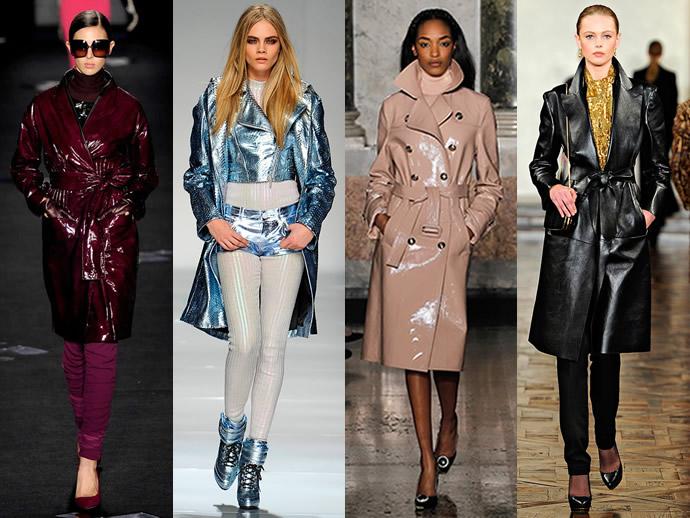 Кожаное пальто - показ мод