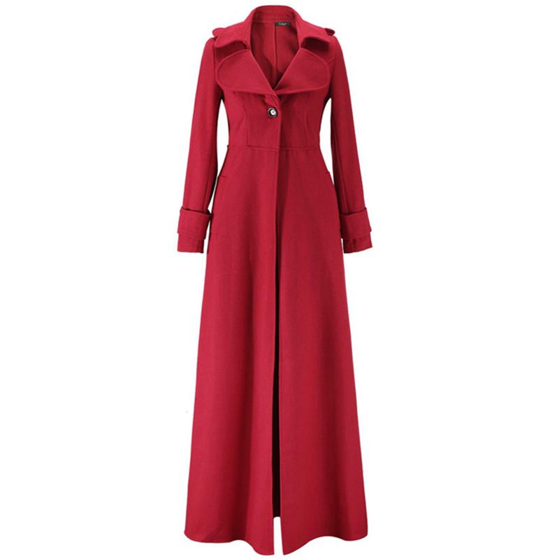 Пальто в пол красное