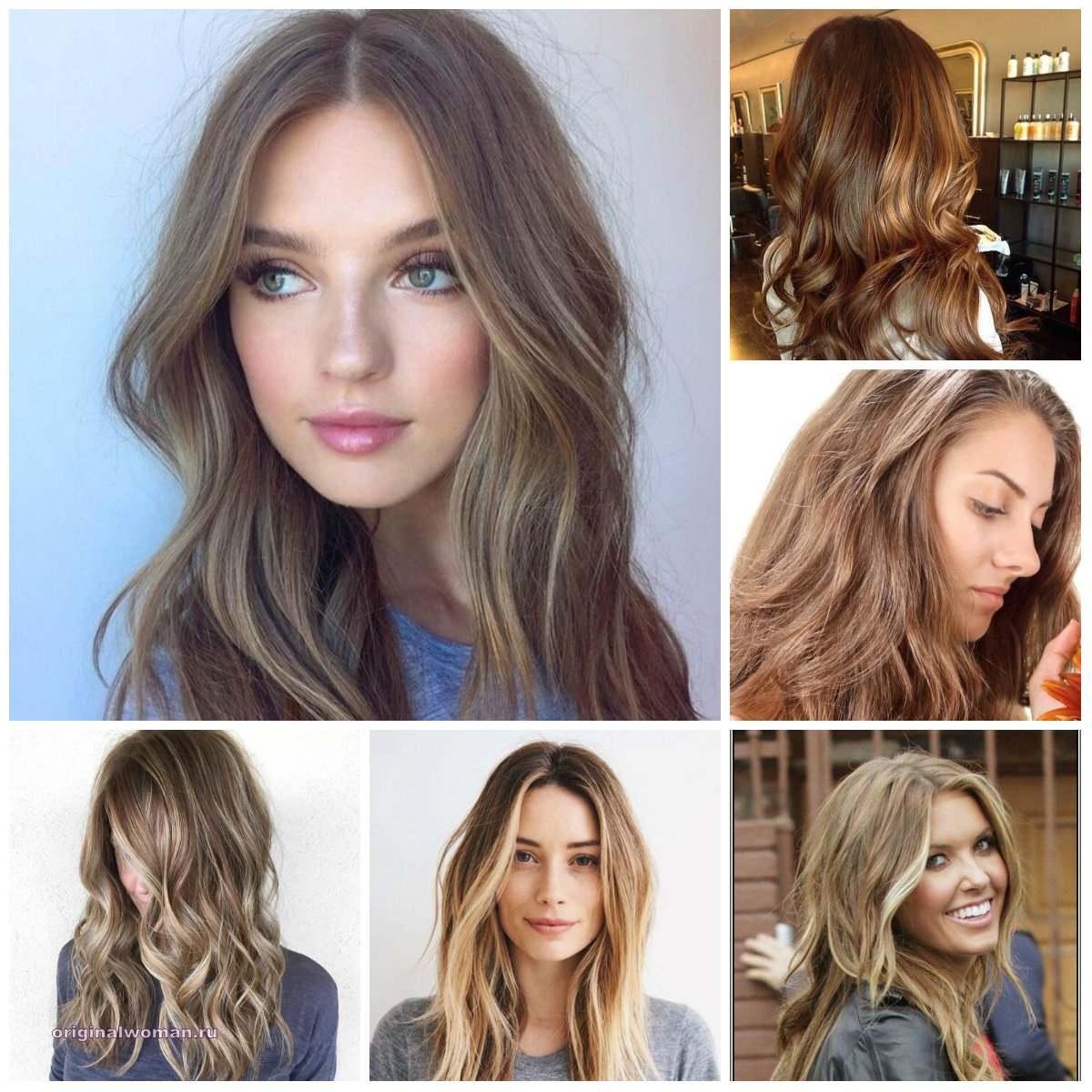 Теплые оттенки шоколадных цветов волос