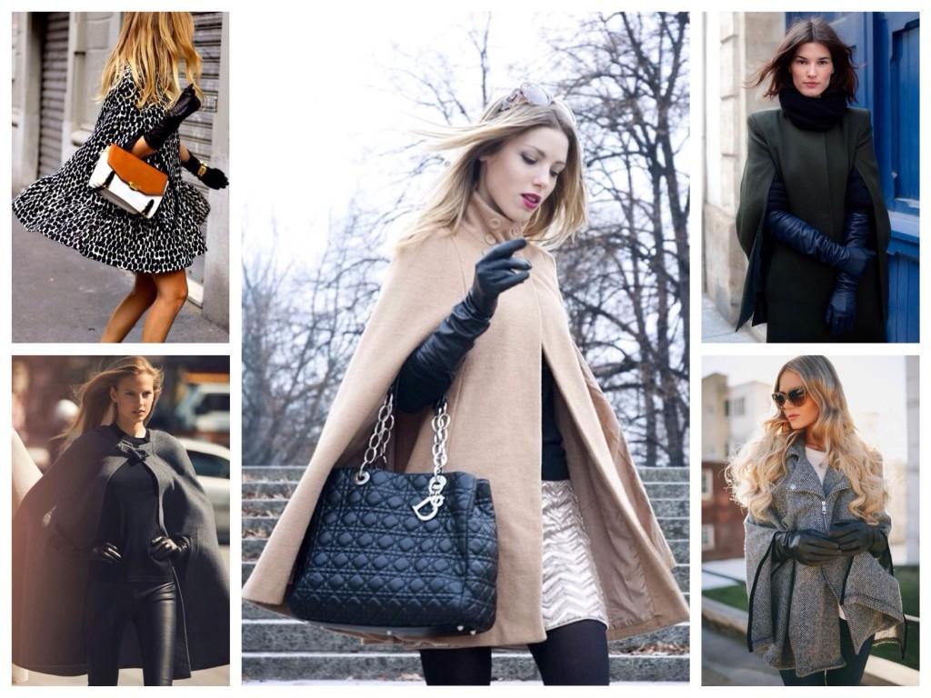 Женское пальто Кейп бежевое