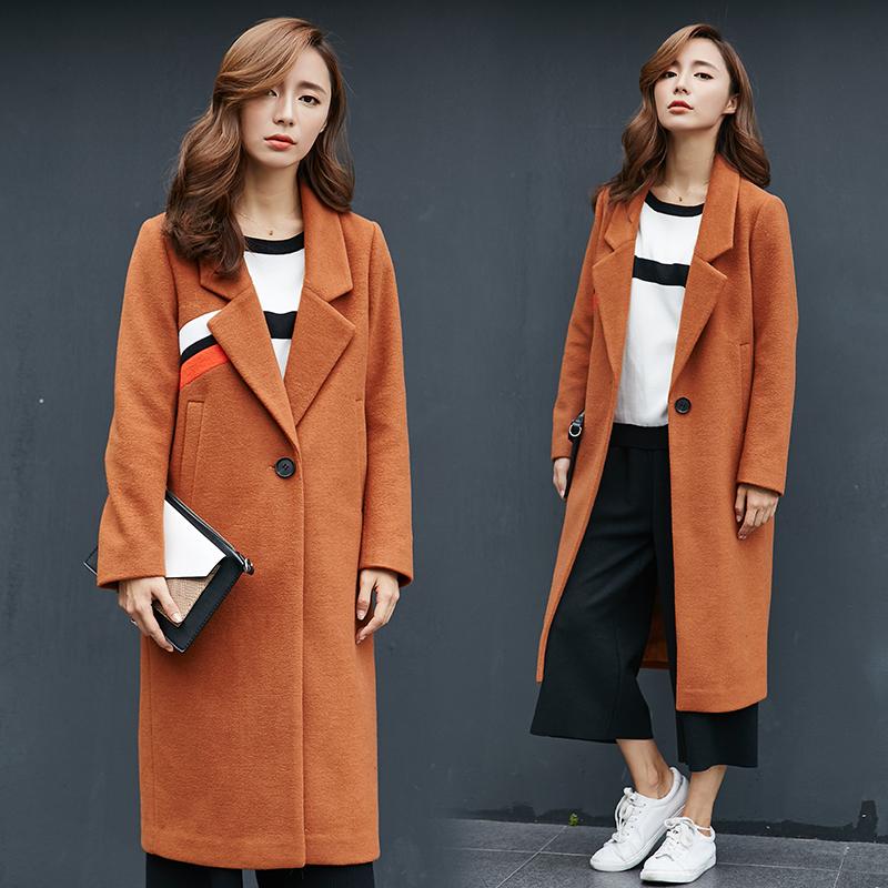 Пальто-мундир коричневое