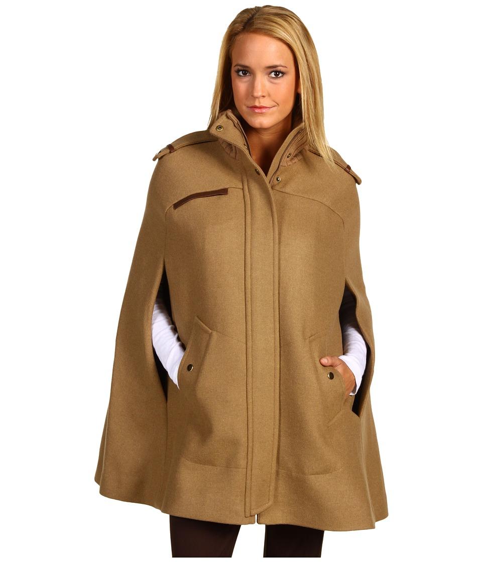 Женское пальто Кейп с воротником стойко