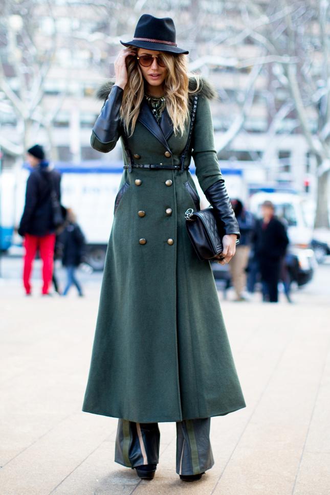 Пальто в пол с мехом