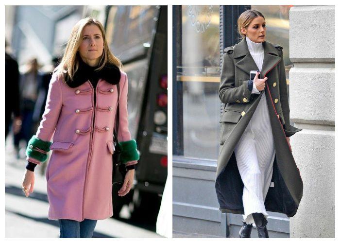 Пальто-мундир - разновидности