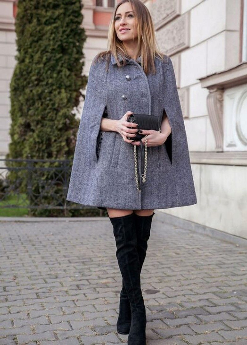 Женское пальто Кейп три четверти