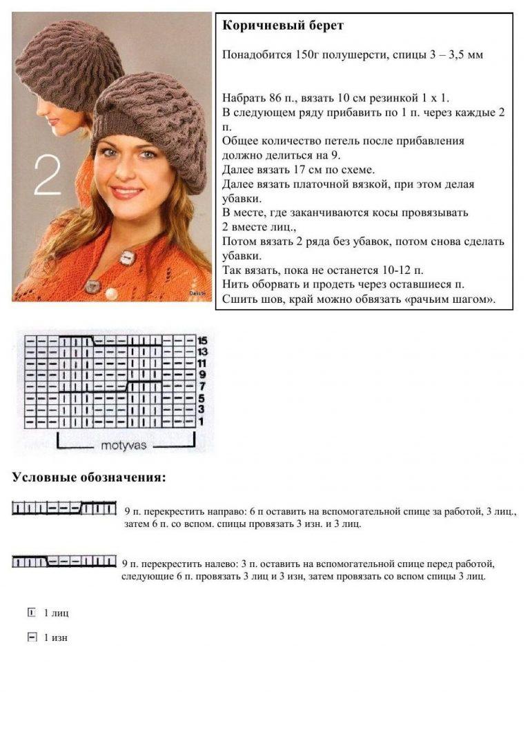 рецепт блинов женские шапки спицами с описанием и фото чувствовала себя